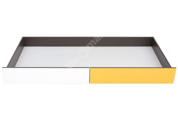 График Белый/Желтый блеск, 022 Тумба для постельных принадлежностей, Спальни, Ящики и аксессуары для кроватей, Стоимость 3975 рублей., фото 4