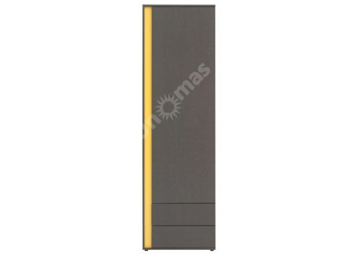 График Серый вольфрам, 016 Шкаф REG1D2SP, Офисная мебель, Офисные пеналы, Стоимость 8775 рублей.