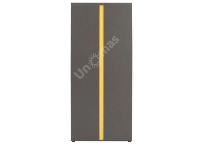 График Серый вольфрам, 018 Шкаф SZF2D, Спальни, Шкафы, Стоимость 11700 рублей.
