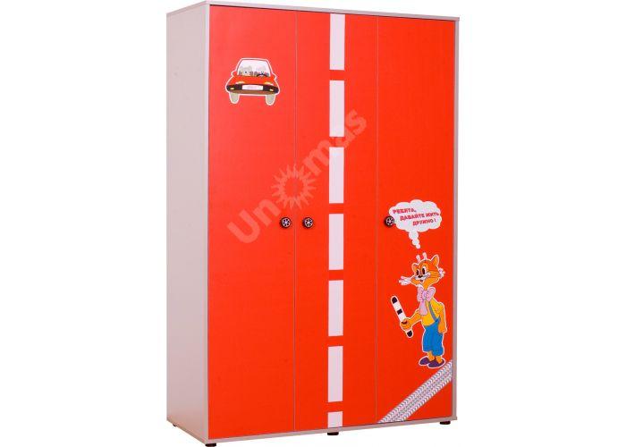 Лео Красный, L-004 Шкаф 3d+L-003 Надставка шкафа 3d, Детская мебель, Модульные детские комнаты, Лео Красный, Стоимость 14325 рублей.