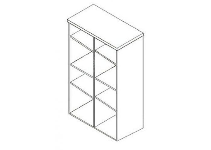 Бонн, 004 шкаф верхний B15-REG1D/13/8, Офисная мебель, Офисные пеналы, Стоимость 6656 рублей., фото 4