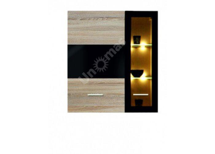 Соматик (Somatic), 004 Шкаф навесной S164-SFW1W1D/11/10 L, Гостиные, Витрины и буфеты, Стоимость 13305 рублей.
