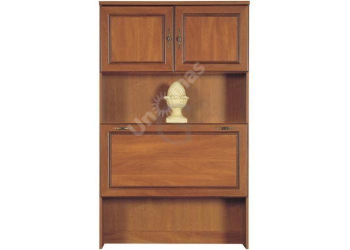 Виктор Яблоня темная, 005 Бар (надставка 90), Офисная мебель, Офисные пеналы, Стоимость 7734 рублей.