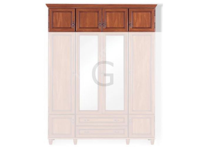 Нью-Йорк, ny-041 Надставка шкафа GNSZ 4d, Спальни, Антресоли, Стоимость 9234 рублей.