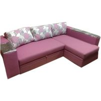 Лондон-3 Угловой диван Marсel flowers rose / Lumins 25