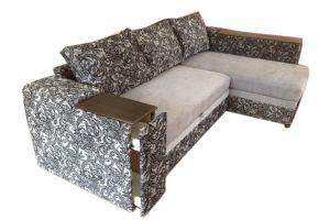 Лондон-3 Угловой диван Ajur biege brown / Melange bono
