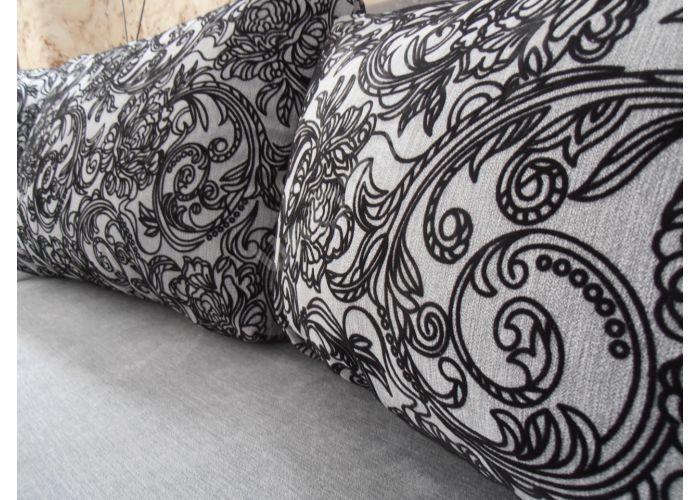 Лондон-3 Угловой диван Melange grey / Ajur grey black, Мягкая мебель, Диваны, Угловые диваны, Стоимость 40808 рублей., фото 2