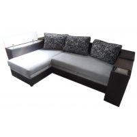 Лондон-3 Угловой диван Melange grey / Ajur grey black