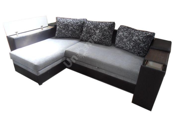 Лондон-3 Угловой диван Melange grey / Ajur grey black, Мягкая мебель, Диваны, Угловые диваны, Стоимость 40808 рублей.