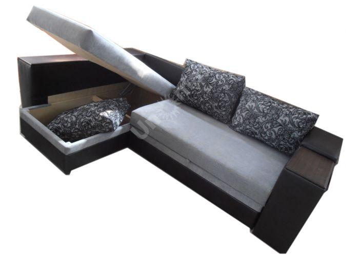 Лондон-3 Угловой диван Melange grey / Ajur grey black, Мягкая мебель, Диваны, Угловые диваны, Стоимость 40808 рублей., фото 4