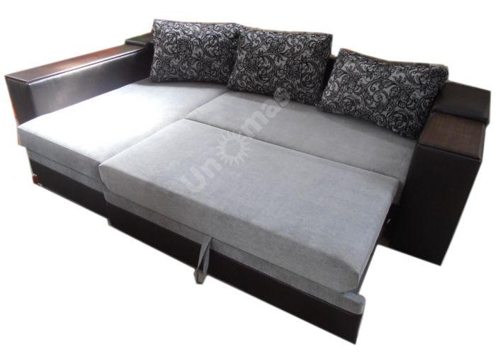 Лондон-3 Угловой диван Melange grey / Ajur grey black, Мягкая мебель, Диваны, Угловые диваны, Стоимость 40808 рублей., фото 3
