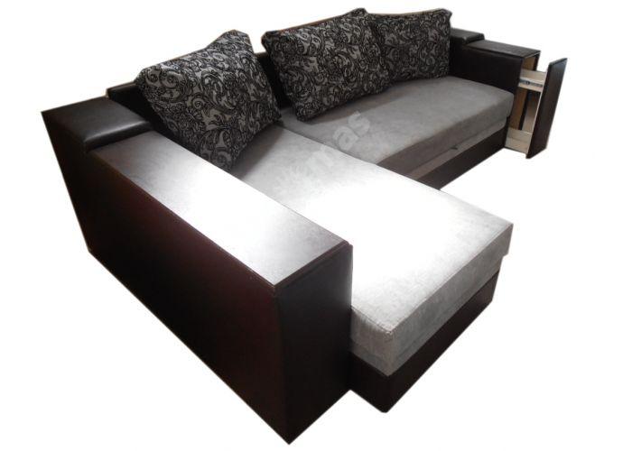 Лондон-3 Угловой диван Melange grey / Ajur grey black, Мягкая мебель, Диваны, Угловые диваны, Стоимость 40808 рублей., фото 5