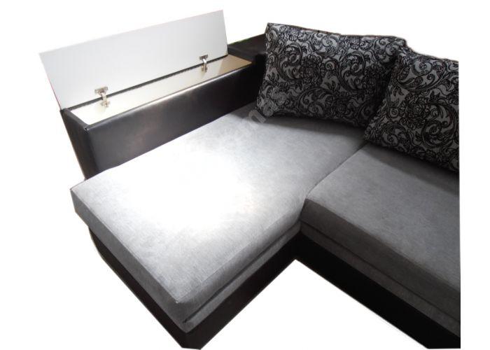 Лондон-3 Угловой диван Melange grey / Ajur grey black, Мягкая мебель, Диваны, Угловые диваны, Стоимость 40808 рублей., фото 6