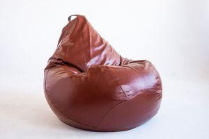 Кресло-груша Экокожа коричневая