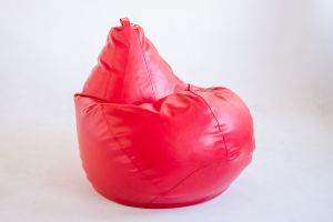 Кресло-груша Экокожа красная