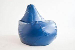 Кресло-груша Экокожа синяя