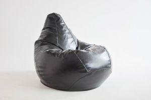 Кресло-груша Экокожа черная