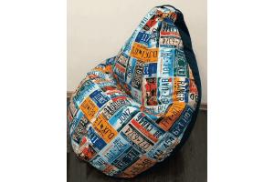 Кресло-груша Микровелюр принт Cadilac