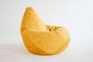 Кресло-груша Микровелюр голд