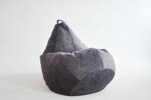 Кресло-груша Микровелюр графит
