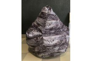 Кресло-груша Микровелюр принт Megapolis