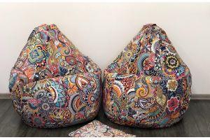 Кресло-груша Микровелюр принт Mandala