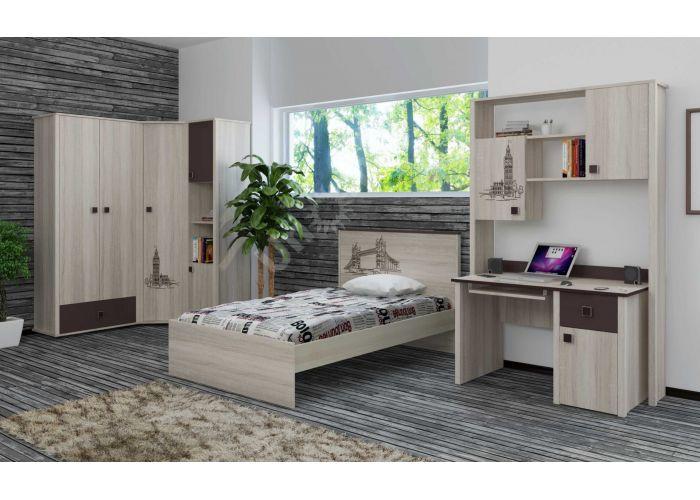 Хэппи, Кровать 900 с настилом ИД 01.245а, Спальни, Кровати, Стоимость 8250 рублей., фото 3