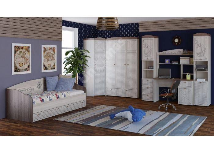Калипсо, Шкаф для одежды 2-х дверный с ящиком ИД 01.346, Спальни, Шкафы, Стоимость 12616 рублей., фото 4