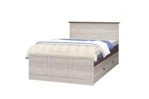 Калипсо, Кровать 1200 с настилом ИД 01.502 + Ящик к кровати ИД 01.502а