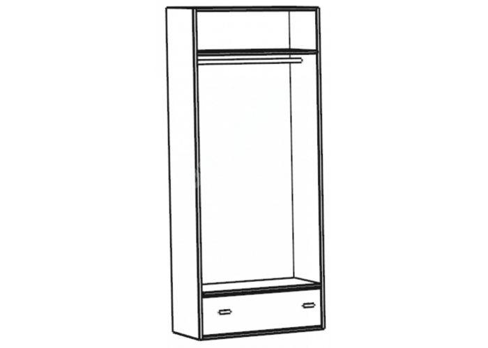 Калипсо, Шкаф для одежды 2-х дверный с ящиком ИД 01.346, Спальни, Шкафы, Стоимость 12616 рублей., фото 2