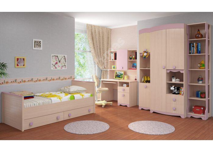 Pink, Кровать 800 с настилом ИД 01.94, Детская мебель, Детские кровати, Стоимость 10805 рублей., фото 3