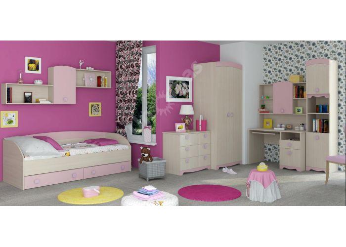 Pink, Кровать 800 с настилом ИД 01.94, Детская мебель, Детские кровати, Стоимость 10805 рублей., фото 2