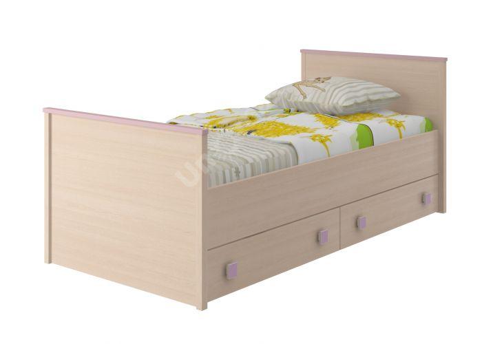 Pink, Кровать 800 с настилом ИД 01.94, Детская мебель, Детские кровати, Стоимость 10805 рублей.