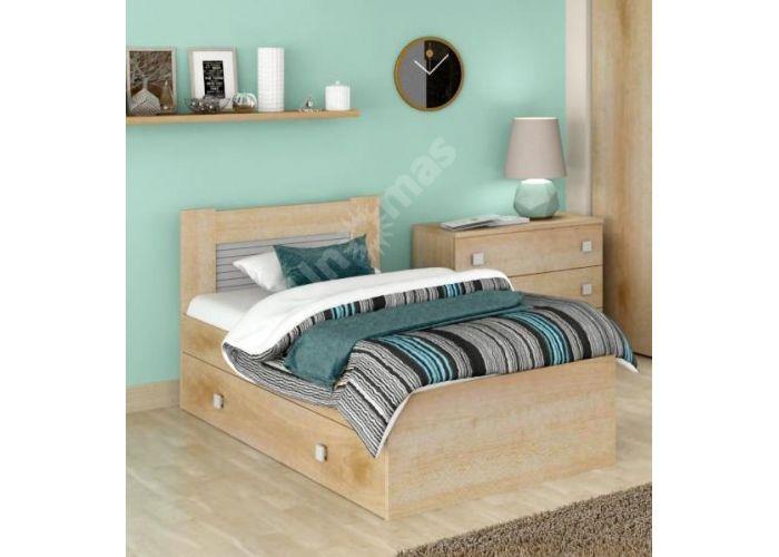 Саша модерн, Кровать 900 с настилом ИД 01.262 + Ящик к кровати ИД 01.262а, Спальни, Кровати, Стоимость 13950 рублей.