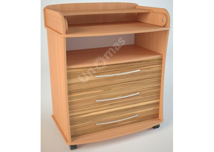 К1 (пеленальный) Комод Бук/Эбони светлый, Детская мебель, Комоды пеленальные, Стоимость 6075 рублей.