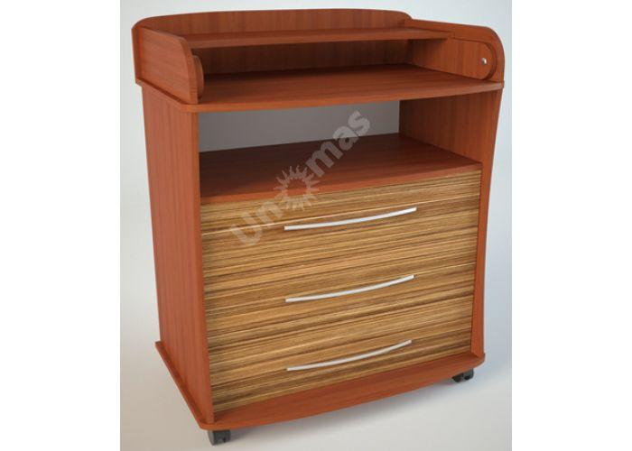 К1 (пеленальный) Комод Груша/Эбони светлый, Детская мебель, Комоды пеленальные, Стоимость 6075 рублей.