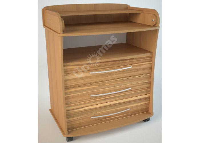 К1 (пеленальный) Комод Ольха/Эбони светлый, Детская мебель, Комоды пеленальные, Стоимость 6075 рублей.