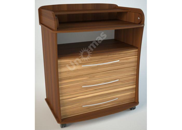 К1 (пеленальный) Комод Орех/Эбони светлый, Детская мебель, Комоды пеленальные, Стоимость 6075 рублей.