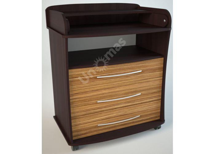 К1 (пеленальный) Комод Венге/Эбони светлый, Детская мебель, Комоды пеленальные, Стоимость 6075 рублей.