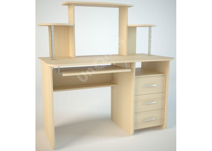 КС1 Компьютерный стол Дуб светлый, Офисная мебель, Компьютерные и письменные столы, Стоимость 6156 рублей.