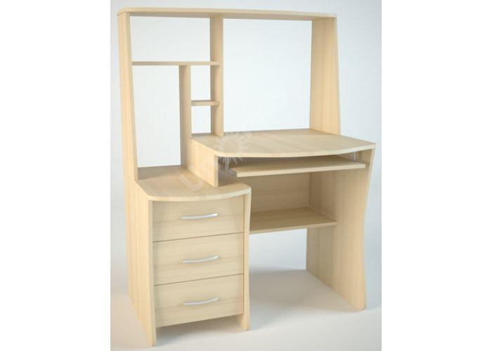 КС3 Компьютерный стол Дуб светлый, Офисная мебель, Компьютерные и письменные столы, Стоимость 5778 рублей.