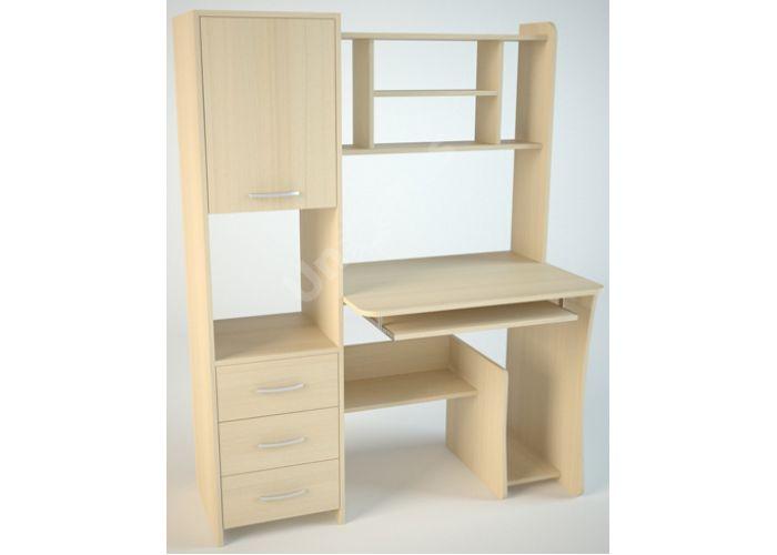 КС5 Компьютерный стол Дуб светлый, Офисная мебель, Компьютерные и письменные столы, Стоимость 7913 рублей.