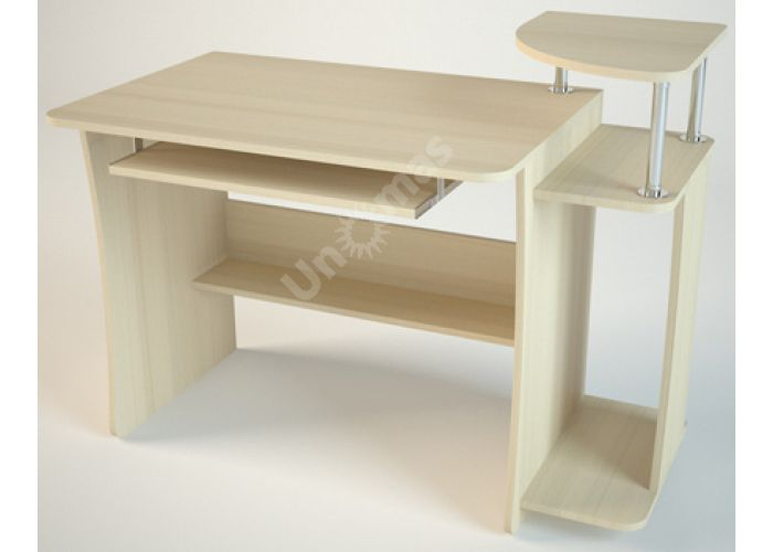 КС6 Компьютерный стол Дуб светлый, Офисная мебель, Компьютерные и письменные столы, Стоимость 3816 рублей.