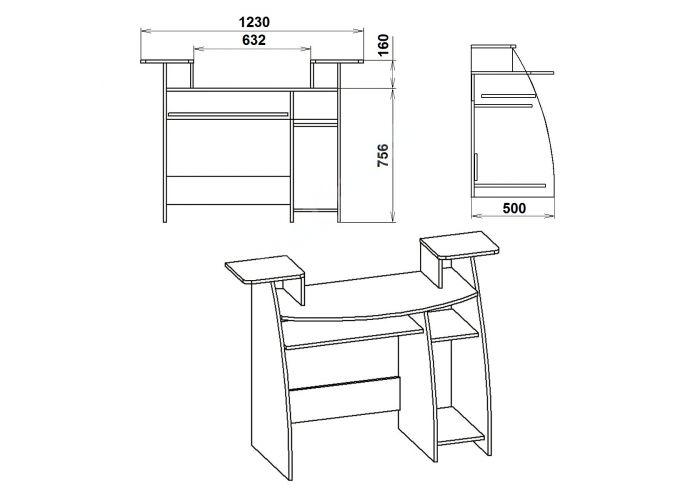 СКМ-4, Офисная мебель, Компьютерные и письменные столы, Стоимость 3262 рублей., фото 7