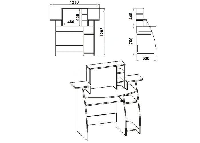 СКМ-5, Офисная мебель, Компьютерные и письменные столы, Стоимость 3732 рублей., фото 7