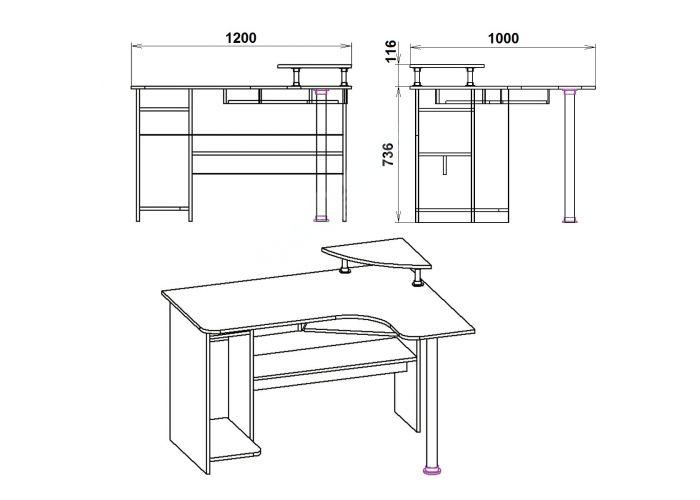 СУ-7, Офисная мебель, Компьютерные и письменные столы, Стоимость 4415 рублей., фото 7