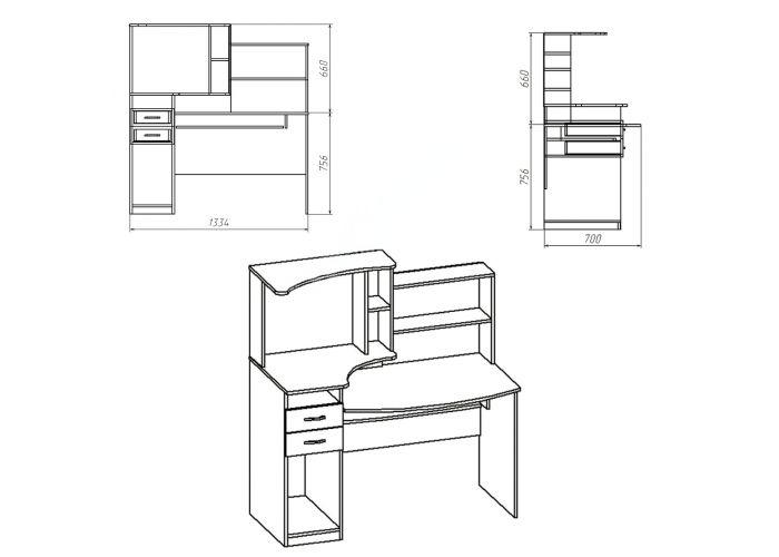 СК Комфорт-4, Офисная мебель, Компьютерные и письменные столы, Стоимость 5714 рублей., фото 2