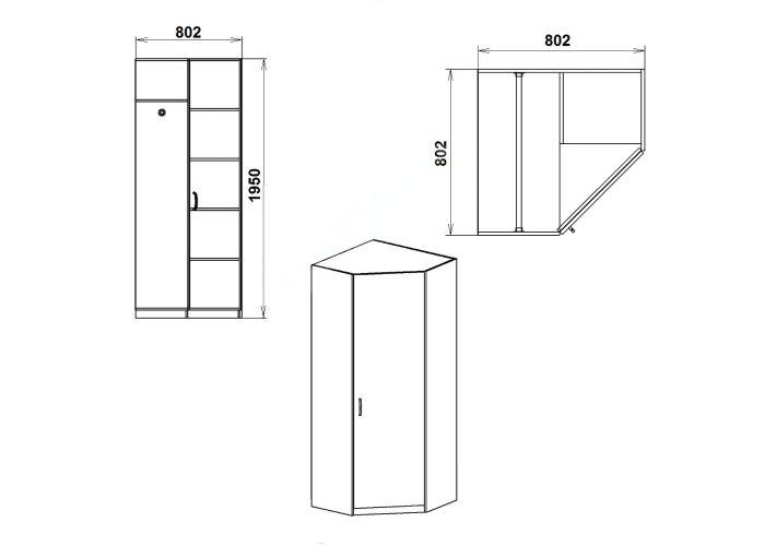 Шкаф-3У, Спальни, Угловые шкафы, Стоимость 6582 рублей., фото 4