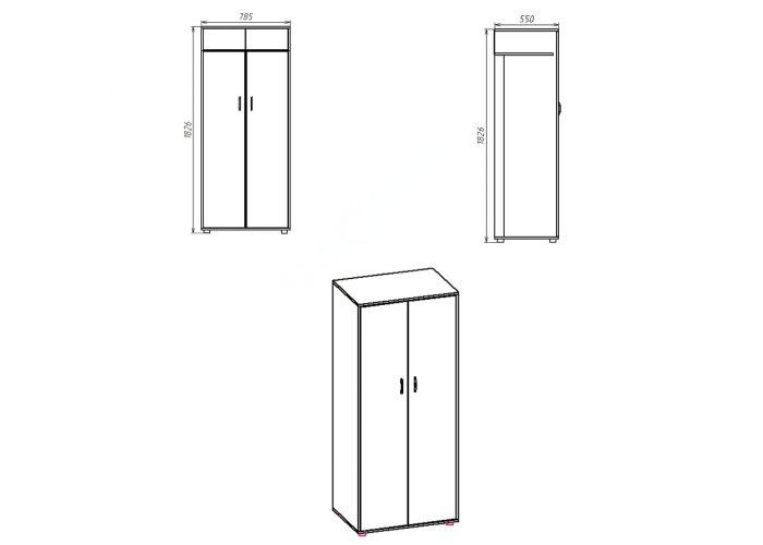 Шкаф-2, Спальни, Шкафы, Стоимость 5430 рублей., фото 6
