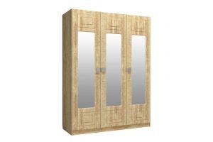 Анастасия, Шкаф трехстворчатый с зеркалом АН-3К дуб роше/дуб классик синхро